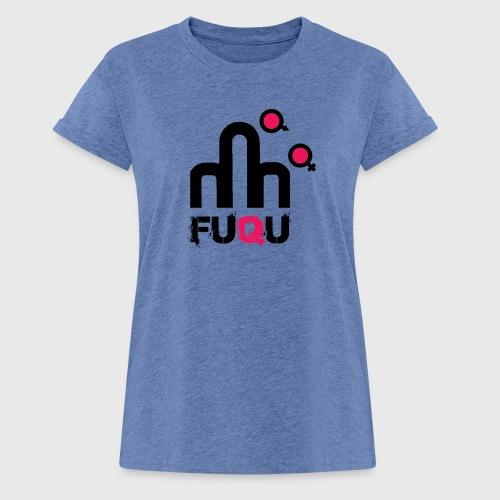 T-shirt FUQU logo colore nero - Maglietta ampia da donna