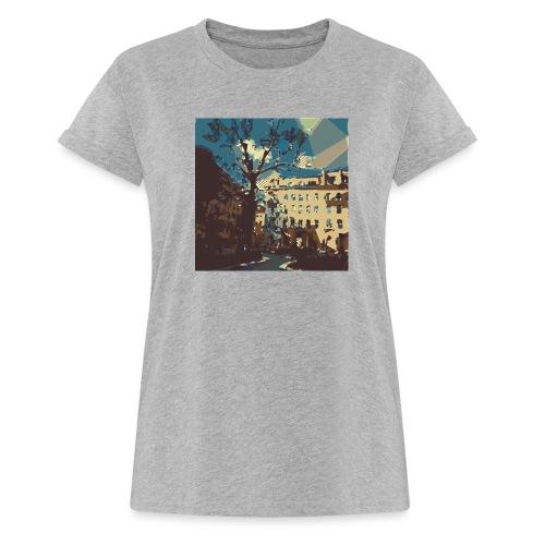 Abstrakt Budapest - Frauen Oversize T-Shirt