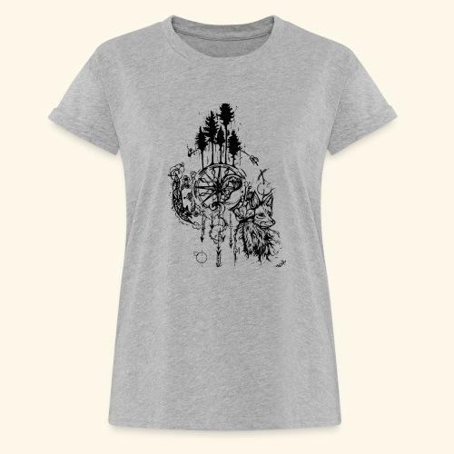 renard nature - T-shirt oversize Femme