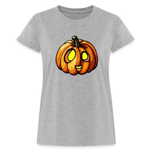 Pumpkin Halloween watercolor scribblesirii - Naisten oversized-t-paita