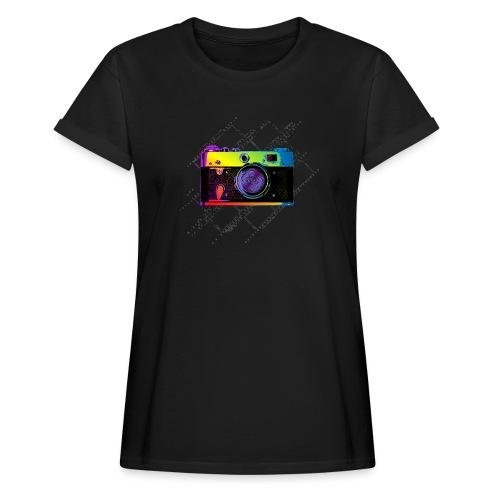 Vintage Rangefinder Film Camera Pop Art Style - Women's Oversize T-Shirt