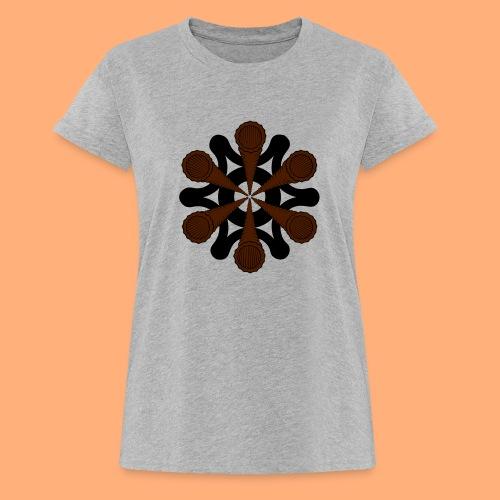 vortex - T-shirt oversize Femme