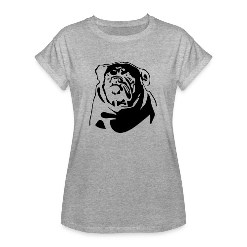 English Bulldog - negative - Naisten oversized-t-paita
