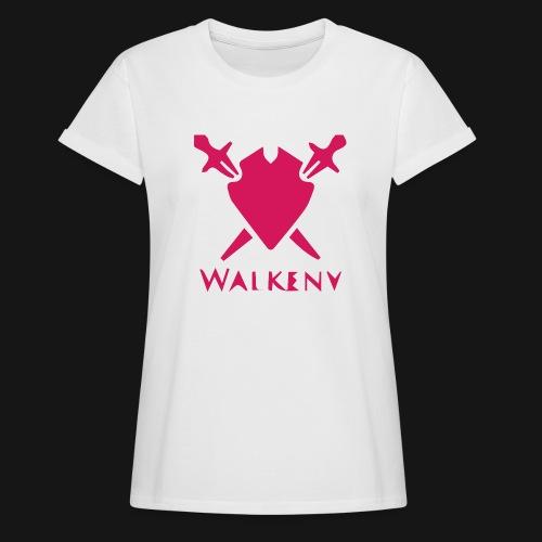 Das Walkeny Logo mit dem Schwert in PINK! - Frauen Oversize T-Shirt