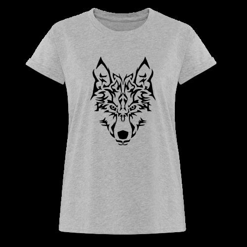 Tribal Wolf - T-shirt oversize Femme