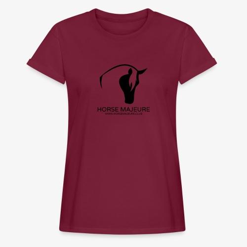 Horse Majeure Logo / Musta - Naisten oversized-t-paita