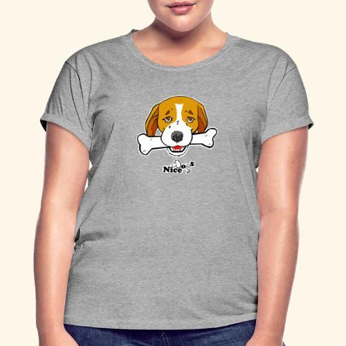 Nice Dogs Semolino - Maglietta ampia da donna