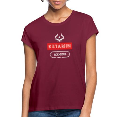 KETAMIN Rock Star - Weiß/Rot - Modern - Women's Oversize T-Shirt