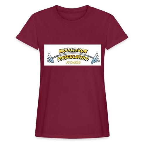 mouilleron muscu logo pour tee shirt 311 - T-shirt oversize Femme