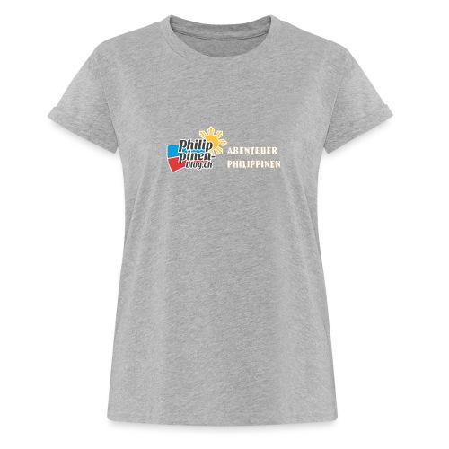 Philippinen-Blog Logo deutsch orange/weiss - Frauen Oversize T-Shirt