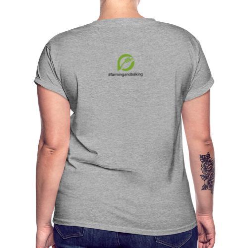 farmingandbaking_logogruen - Frauen Oversize T-Shirt