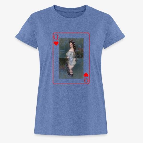 Kaiserin Sissi spielkarte Österreich - Frauen Oversize T-Shirt