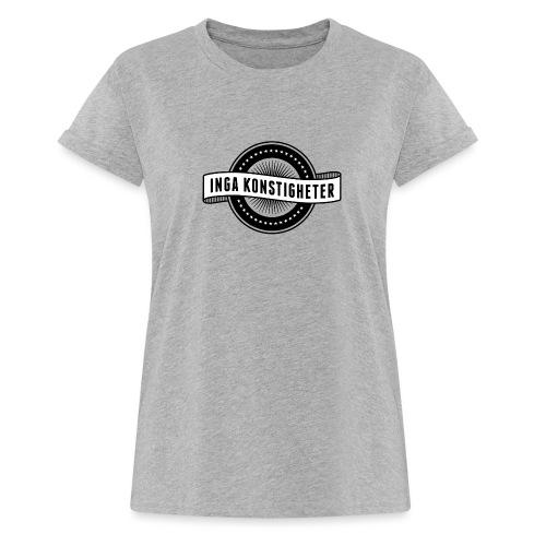 Inga Konstigheters klassiska logga (ljus) - Oversize-T-shirt dam
