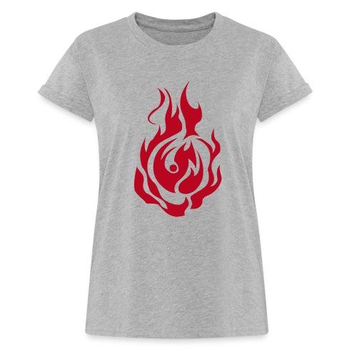 feu - T-shirt oversize Femme