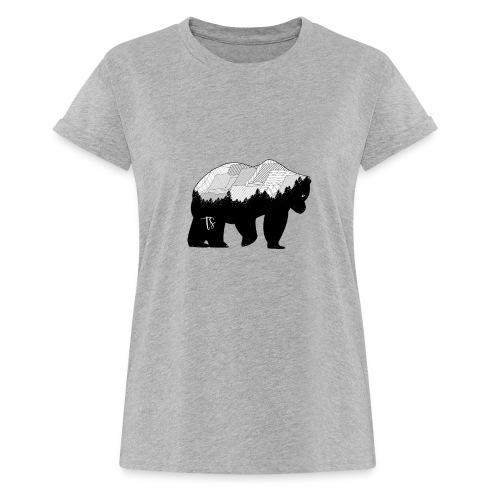 Geometric Mountain Bear - Maglietta ampia da donna