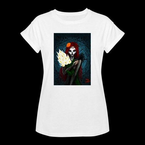 Death and lillies - Women's Oversize T-Shirt
