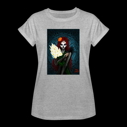Death and lillies - Women's Oversize T-Shirt
