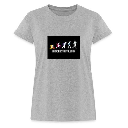 mirrorless evolution - Camiseta holgada de mujer