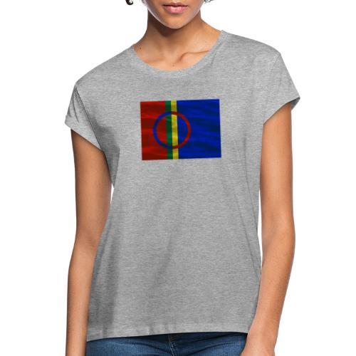 Sapmi flag - Oversize T-skjorte for kvinner