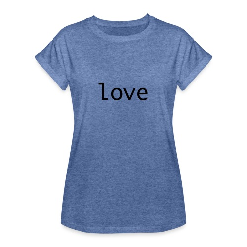 love - Oversize-T-shirt dam
