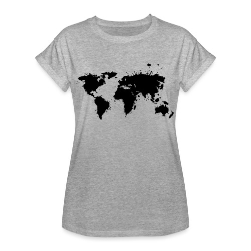 Weltkarte Splash - Frauen Oversize T-Shirt