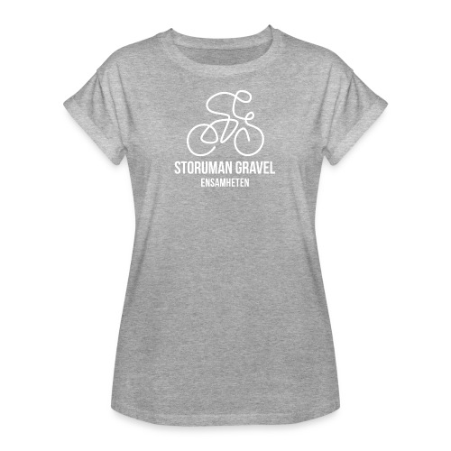 Storuman Gravel / Vit - Oversize-T-shirt dam
