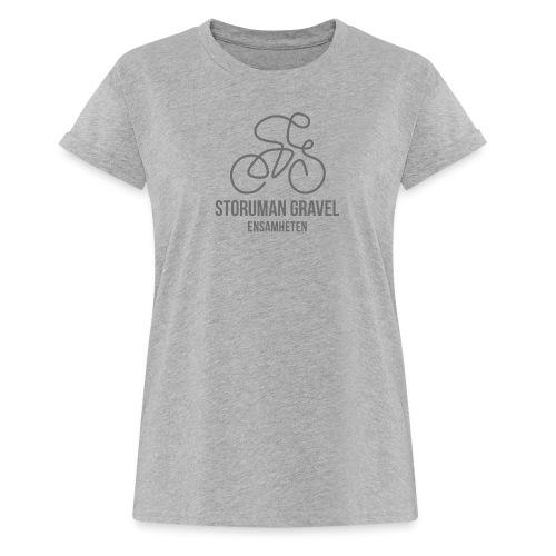 Storuman Gravel / grå - Oversize-T-shirt dam