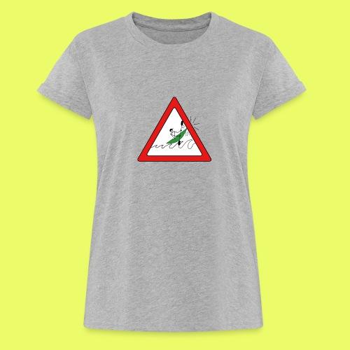 Kajak Unfall im Dreieck - Frauen Oversize T-Shirt