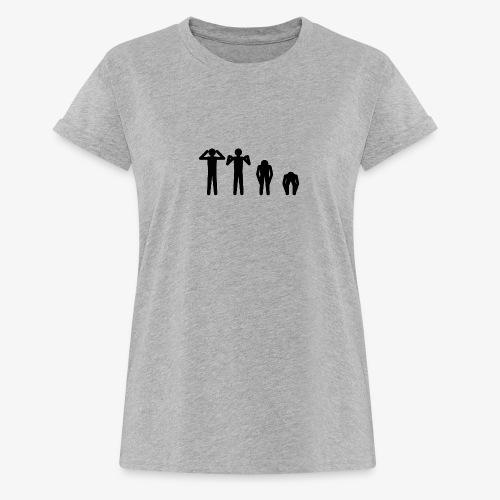 Hode, skulder, kne og tå - Oversize T-skjorte for kvinner
