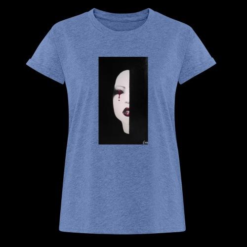 BlackWhitewoman - Maglietta ampia da donna