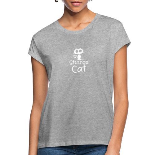 Strange Cat Blanc - T-shirt oversize Femme