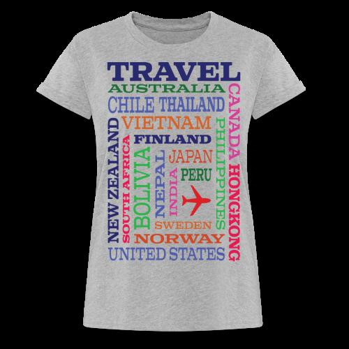 Travel Places design - Naisten oversized-t-paita