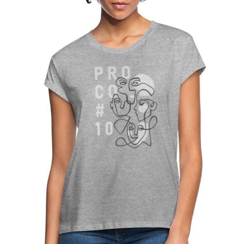 shirt hellgrau - Frauen Oversize T-Shirt