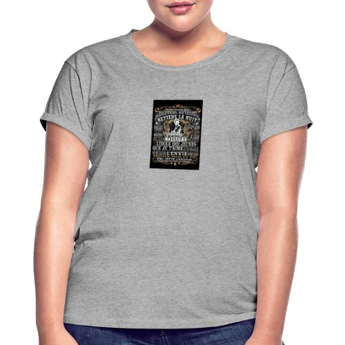 Johnny hallyday diamant peinture Superstar chanteu - T-shirt oversize Femme