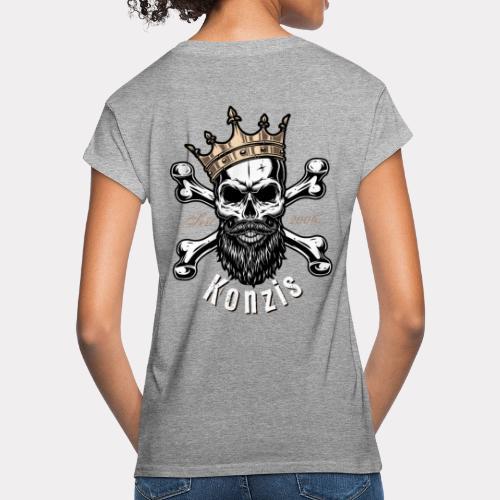 Skull Bones Logo - Frauen Oversize T-Shirt
