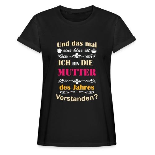 Mutter des Jahres - Super Mutti Muttertag T-Shirt - Frauen Oversize T-Shirt