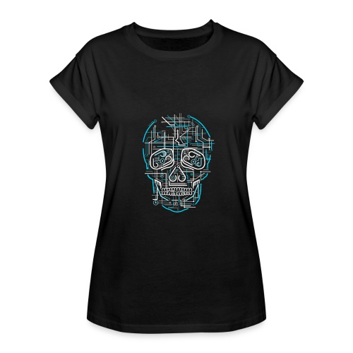 electric skull tshirt ✅ - Frauen Oversize T-Shirt