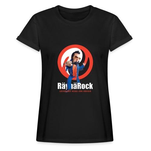 Räyhärock musta - Naisten oversized-t-paita