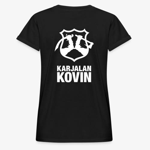 karjalan kovin logo pysty cmyk - Naisten oversized-t-paita