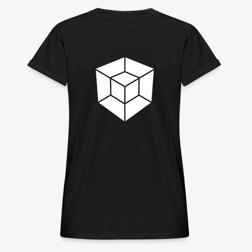 WHITE // LOGO ONLY - Women's Oversize T-Shirt