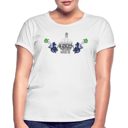 F&%k you Corona - Frauen Oversize T-Shirt