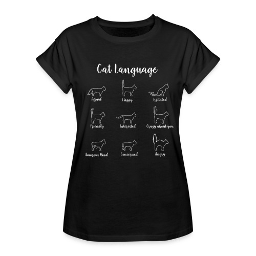 Funny Cation Cat Lovers Kitty Kitten Sign Language - Dame oversize T-shirt