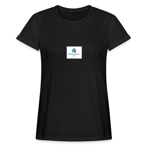 logo youtube - Maglietta ampia da donna