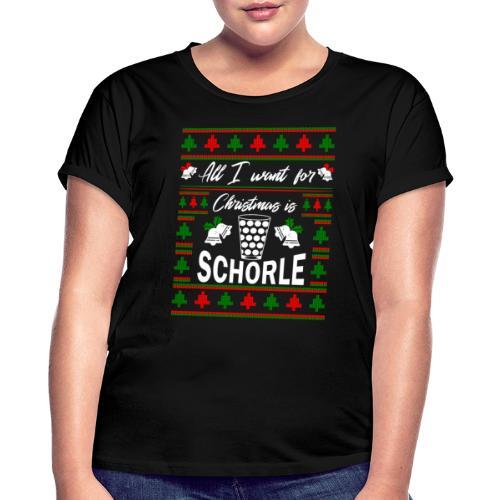 Ugly Christmas Schorle Pfälzer Weinschorle - Frauen Oversize T-Shirt