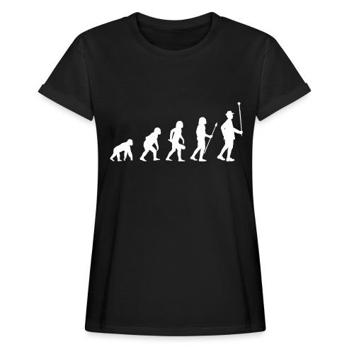 Evolution Stabführer weiß - Frauen Oversize T-Shirt