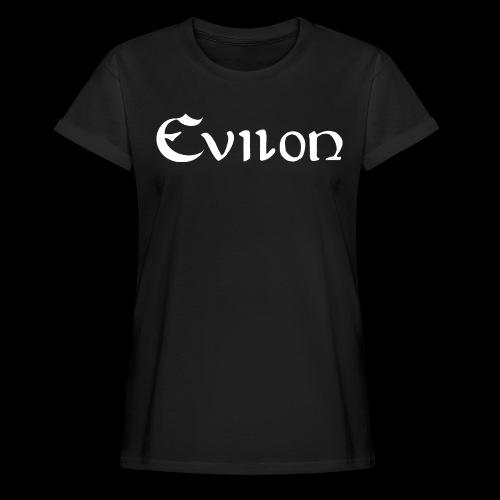 evilonlogga vit - Oversize-T-shirt dam