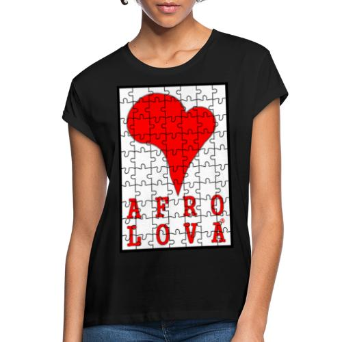 puzzle Afro Lova - T-shirt oversize Femme