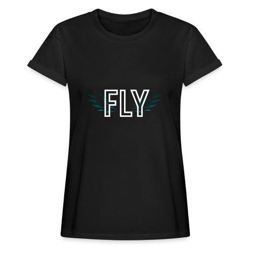 Wings Fly Design - Women's Oversize T-Shirt
