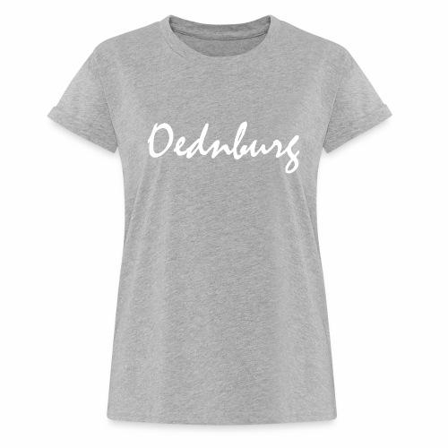 Oednburg Wit - Vrouwen oversize T-shirt
