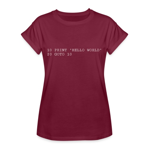 HELLO WORLD - Commodore64 BASIC - Dame oversize T-shirt